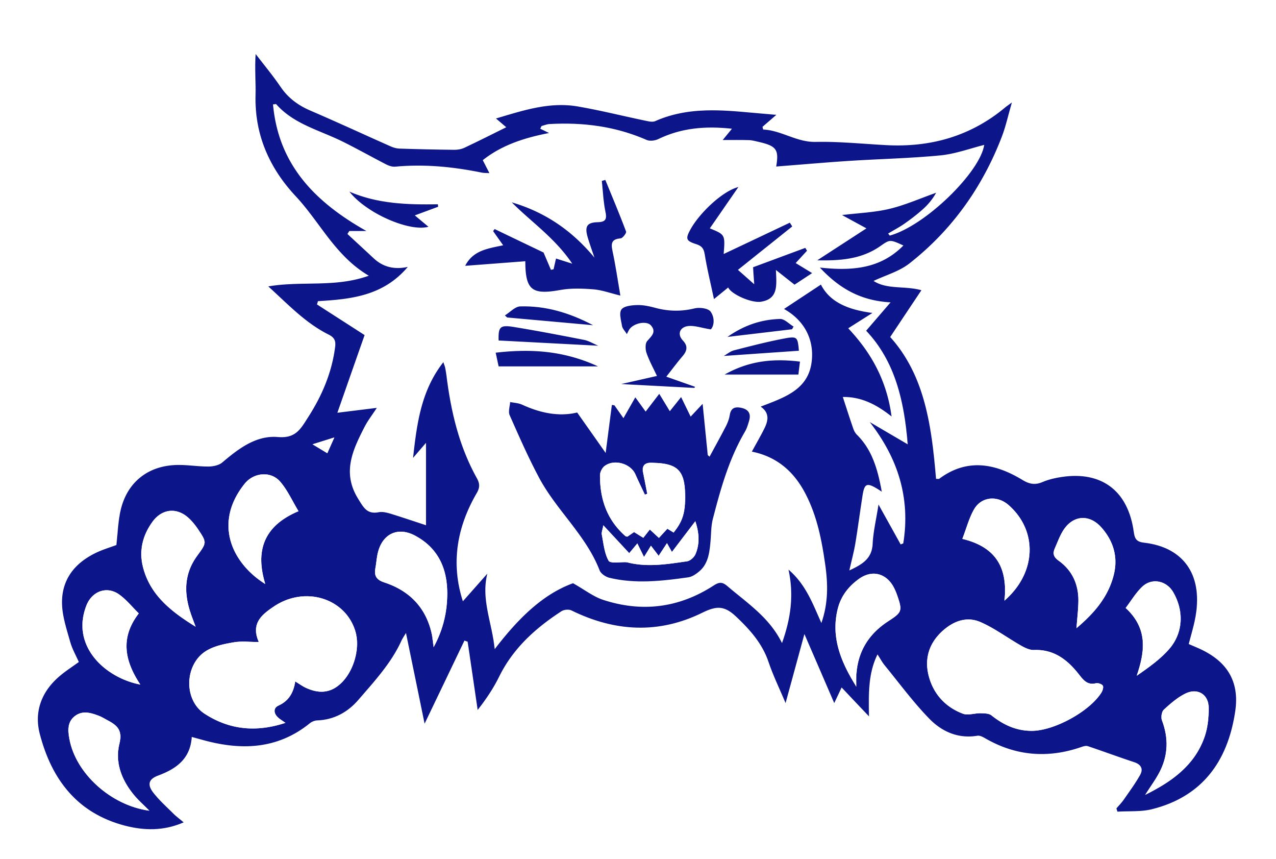 Weber State University Wildcat hockey logo.