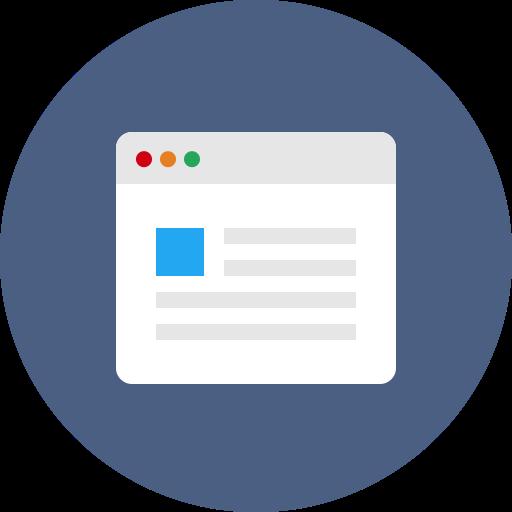 Browser, internet, web, webpage, website, window icon.