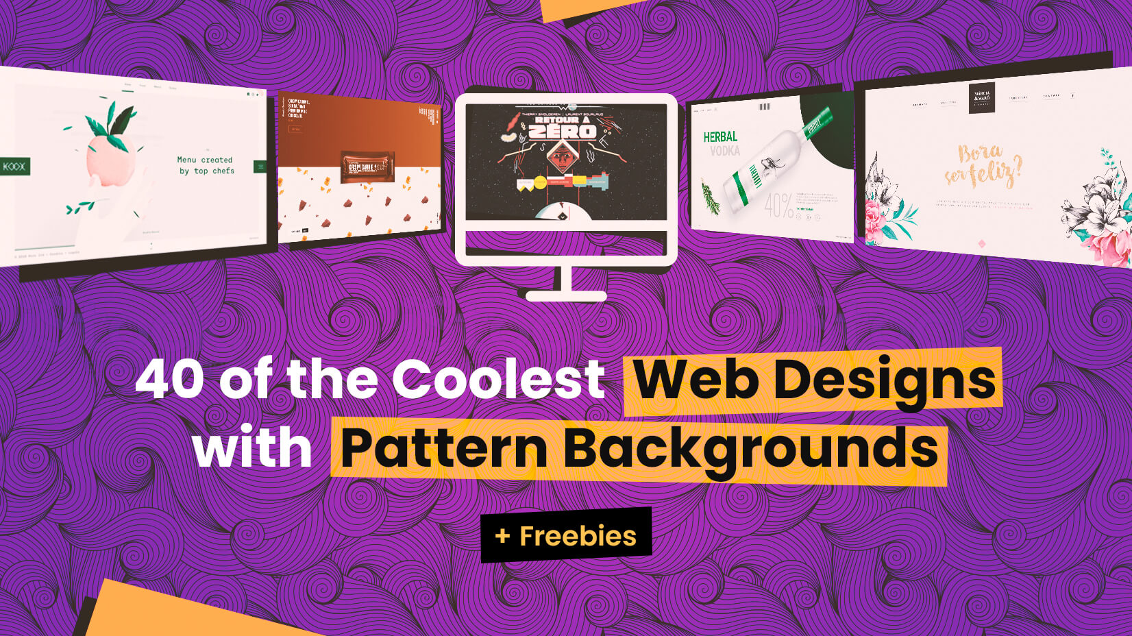 40 of the Coolest Web Designs with Pattern Backgrounds +.
