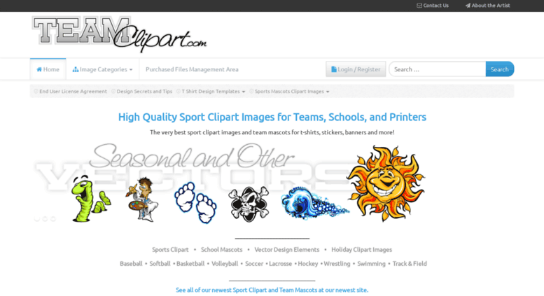 Access teamclipart.com. Sport Clipart Logos and Team Mascots.