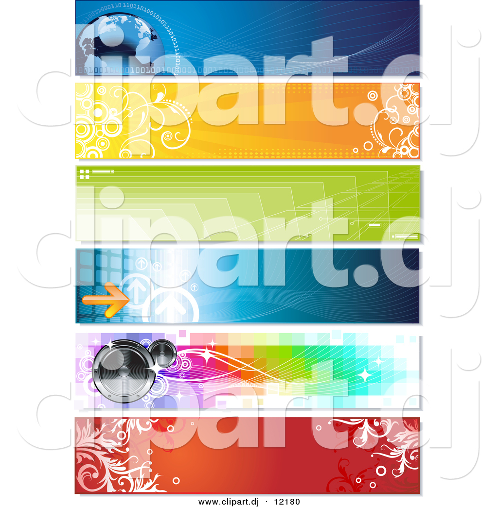 Vector Clipart of a Horizontal Arrow and Speaker Website.