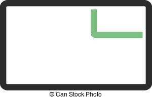 Vector Clipart of website tab.