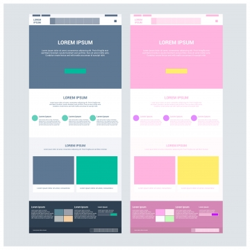 Website Template PNG Images.