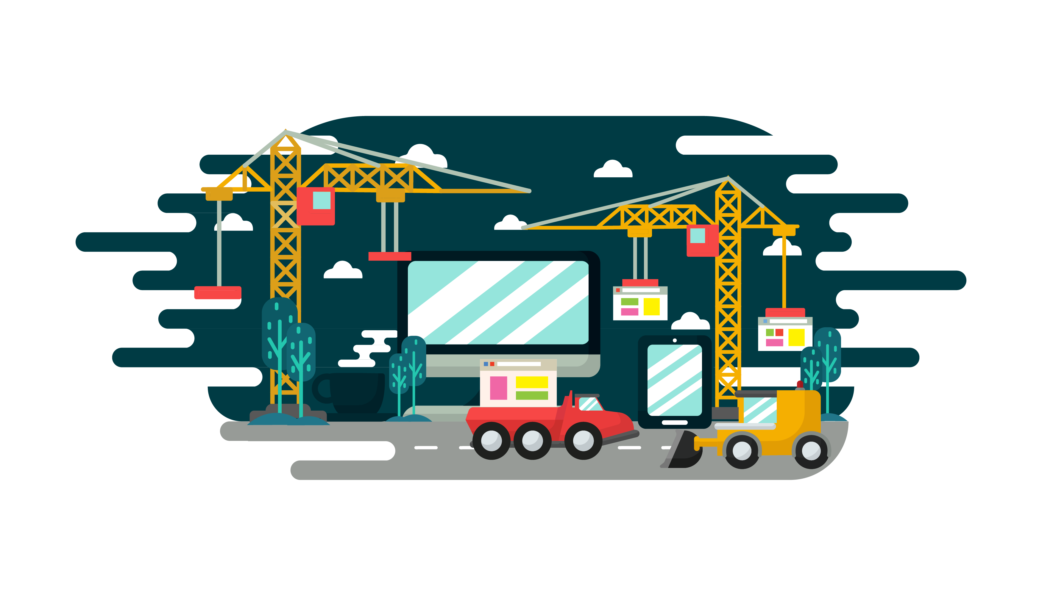 Website Under Construction Vector.