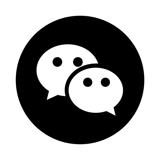 Wechat Logo Icon of Glyph style.