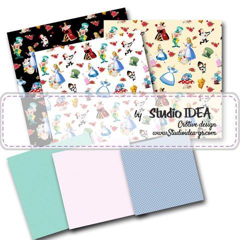 Alice in Wonderland Digital Scrapbooking Paper 12\