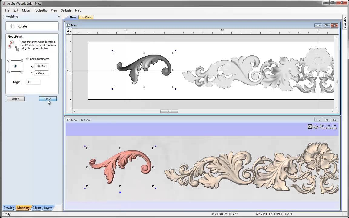 Vectric Aspire Tutorial wood scrolls by MegaTopdogs.