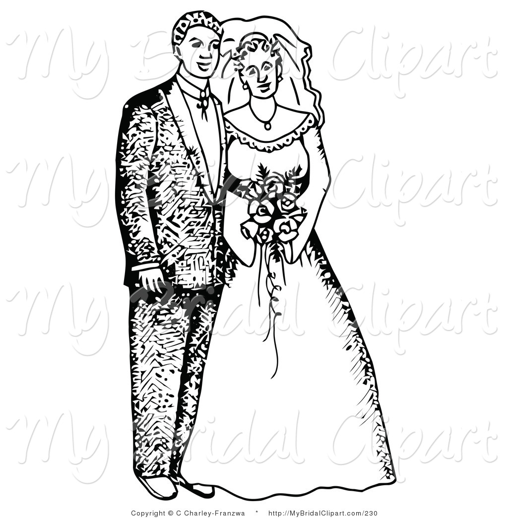 Wedding Black And White Clipart.