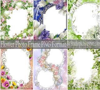 Flower Photo Frame Png Format By in 2019.