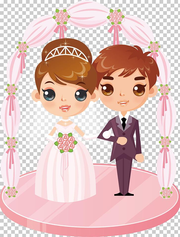 Marriage Animation Wedding, Painted wedding baby icon.