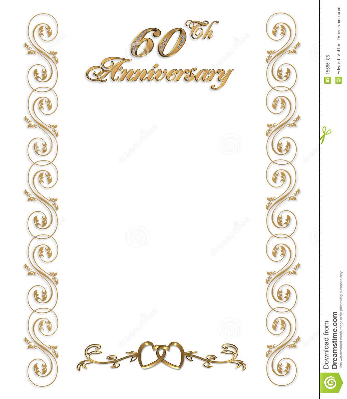 60th Wedding Anniversary Clipart.
