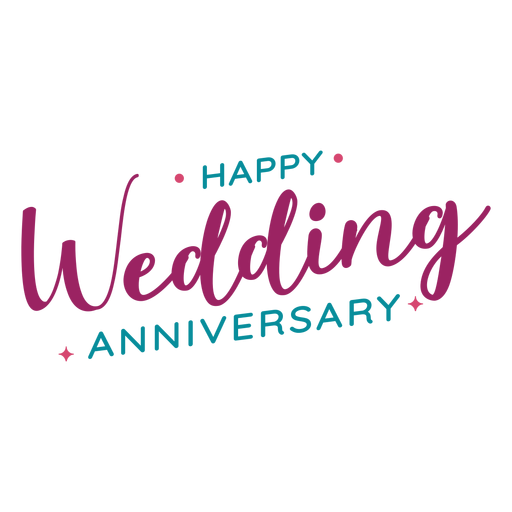 Happy wedding anniversary lettering.