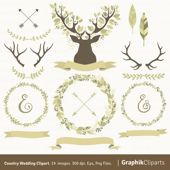 Antlers clipart wreath, Antlers wreath Transparent FREE for.