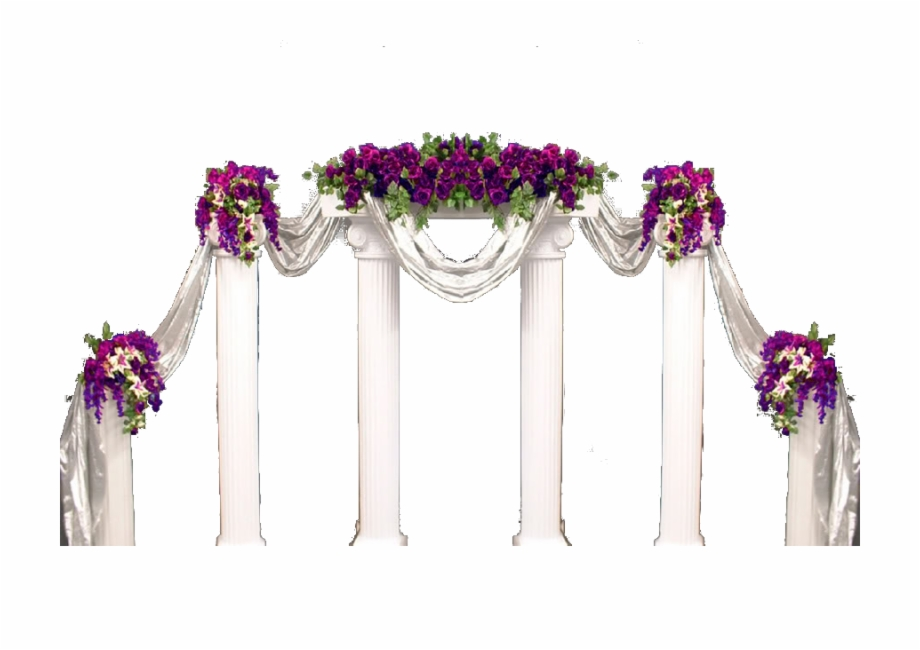 Wedding Arch Flowers Png.