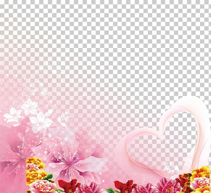 Wedding invitation , Transparent decorative flowers.
