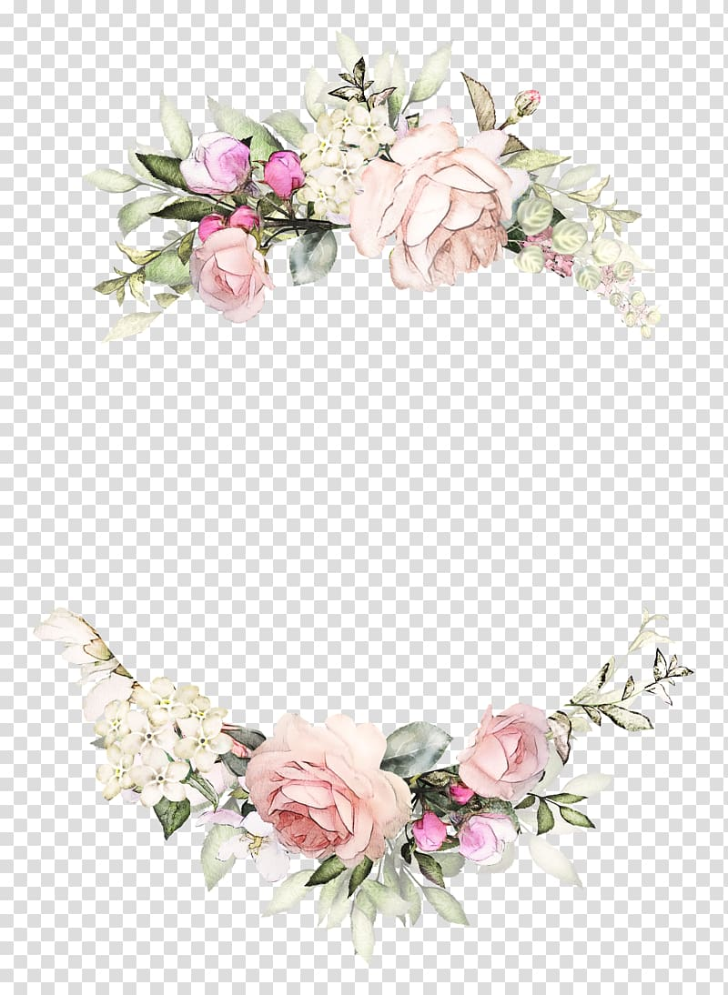 Multicolored floral frame, Wedding invitation Rose Wreath.