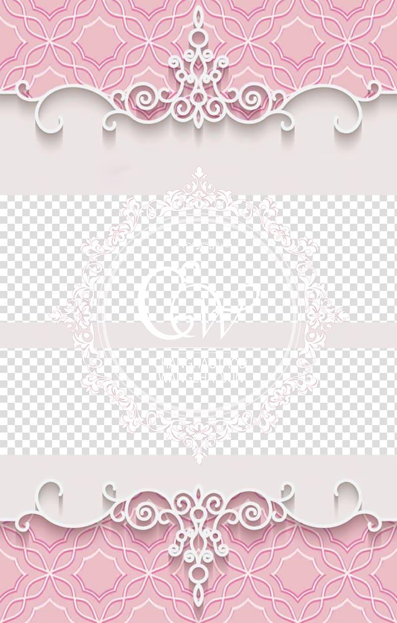 Paper Visual arts Pink Pattern, Romantic pink wedding.