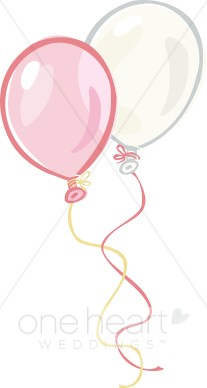 Two Balloons Clipart.
