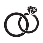 Linked Wedding Rings Clipart.