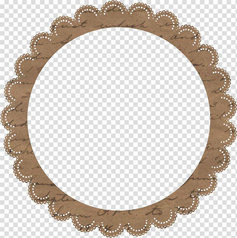 Round brown frame border, Baby shower Party favor Birthday.