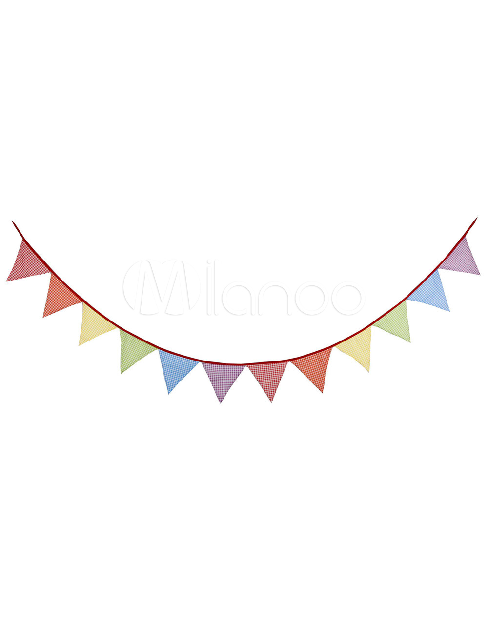 Wedding Banner Flags Clipart Red Printed Triangle Bunting Decorations.