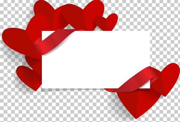 Valentines Day Wedding Invitation Banner PNG, Clipart.