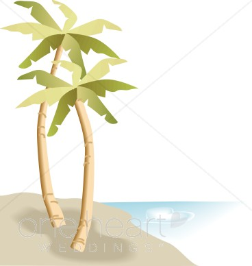 Palm Trees Beach Clipart.