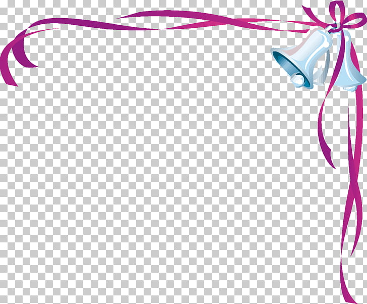 Wedding invitation Bell , Wedding Border Transparent PNG.