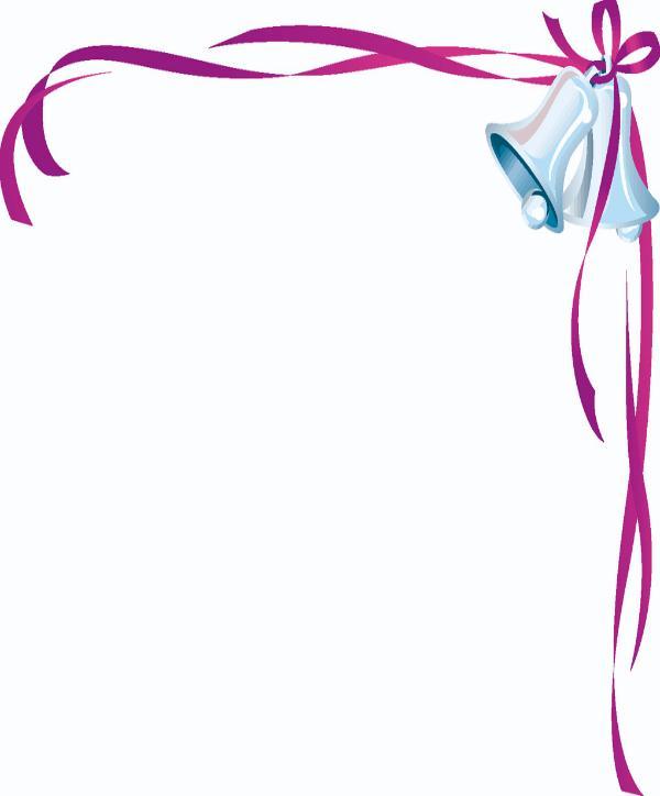 Wedding Bells Clip Art Borders N10 free image.