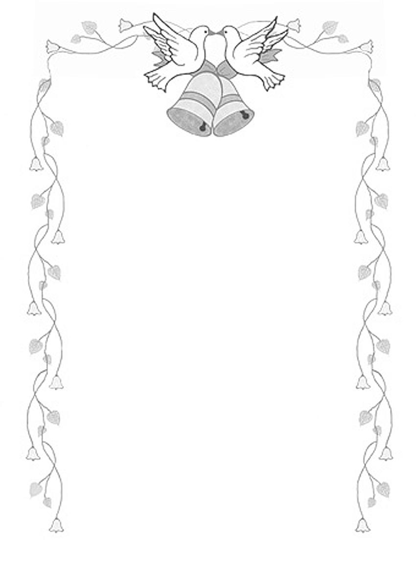 Wedding Bells Border Clipart.