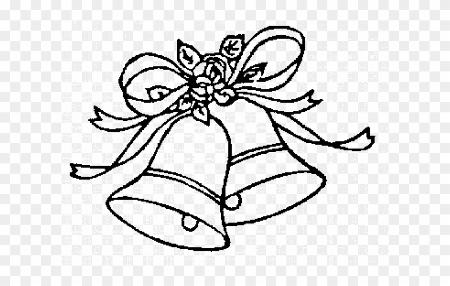 Wedding Bells Clip Art Black And White.