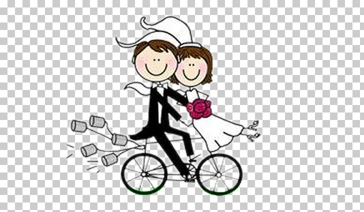 Wedding invitation Paper Marriage Bicycle Drawing, Bicycle.
