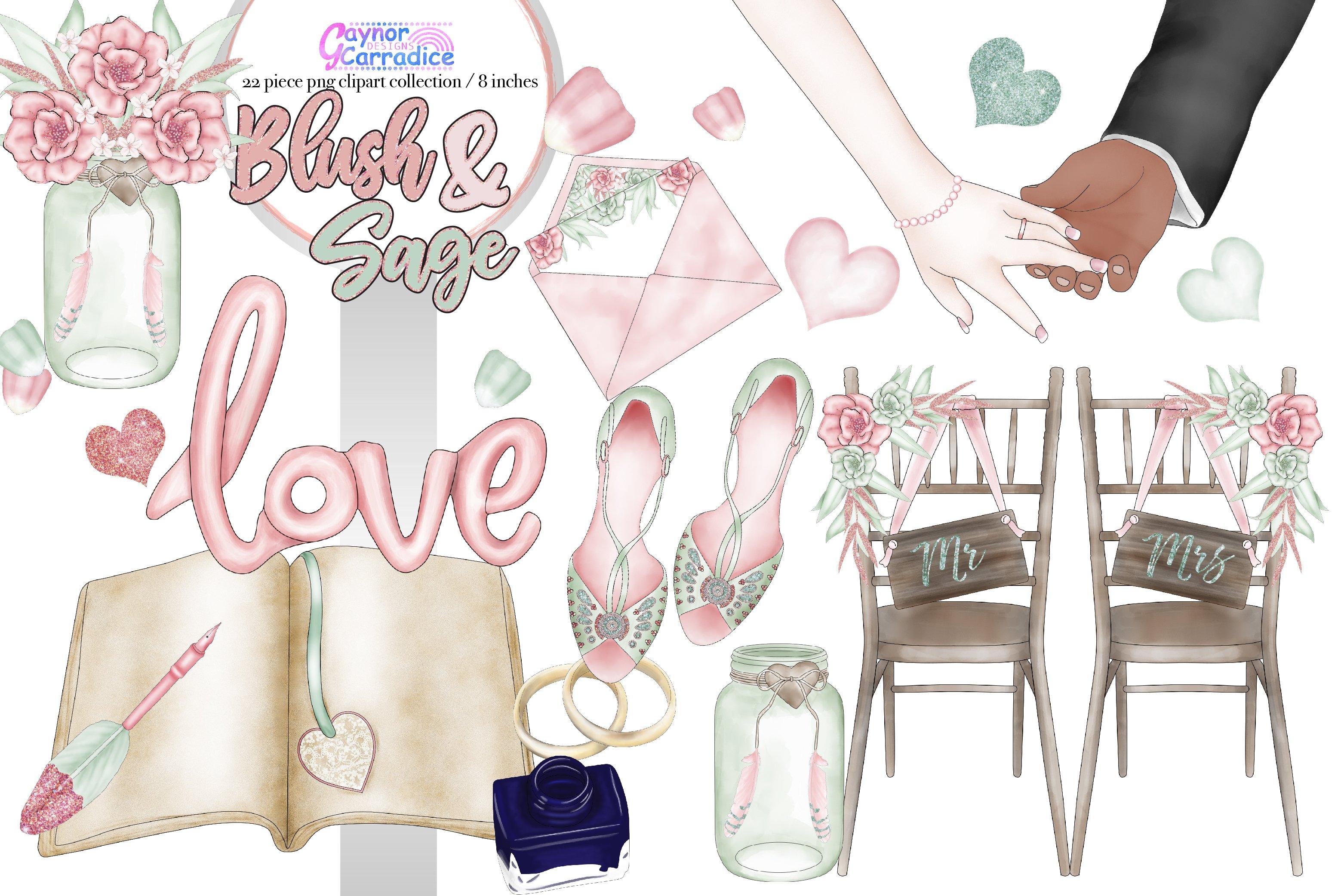 Boho Wedding Clipart 2 ~ Illustrations ~ Creative Market.