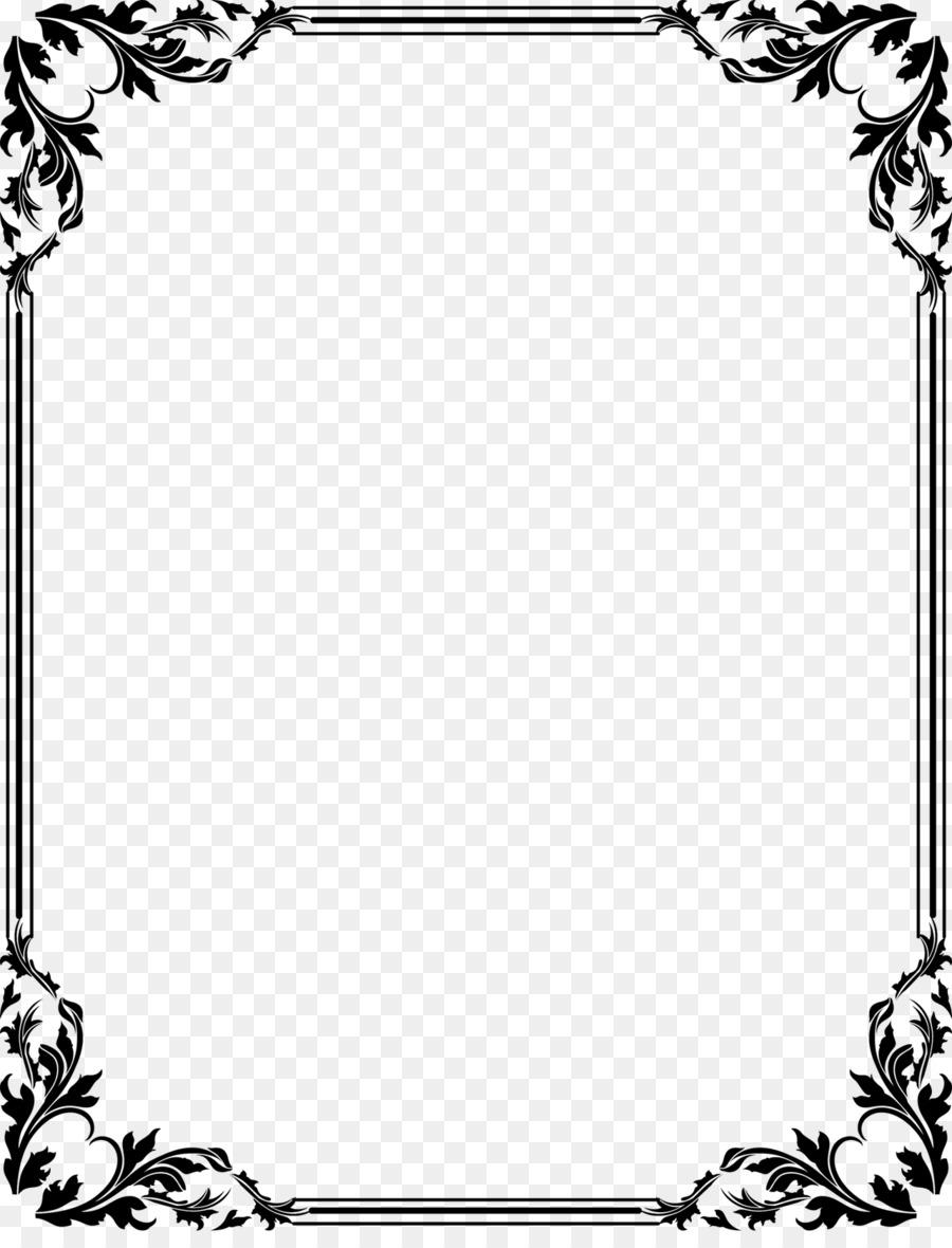 Border Design Black And White clipart.
