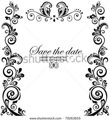 Border Patterns For Wedding Invitations.