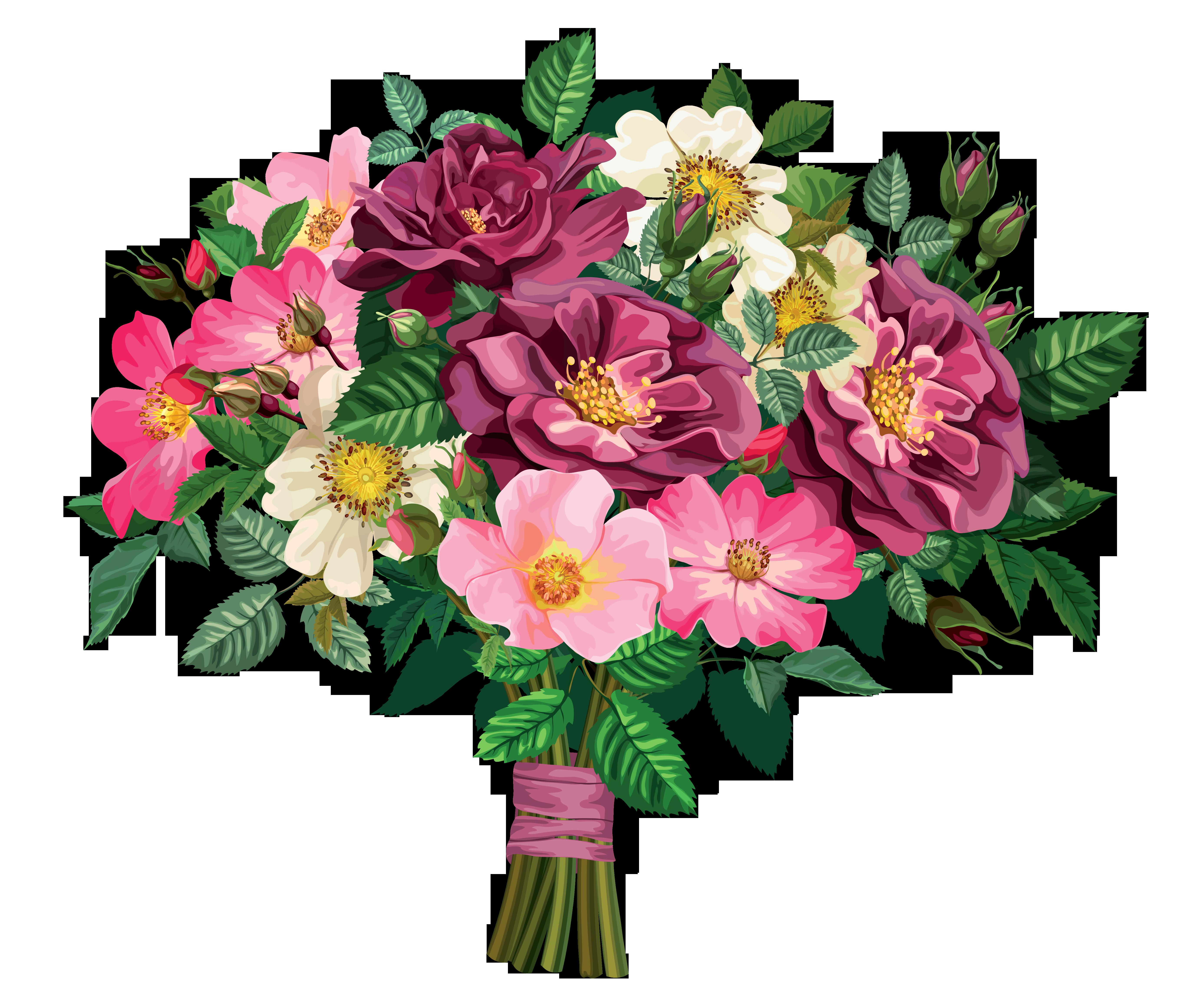 Wedding bouquets clipart.