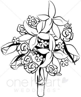 Clipart Bridal Bouquet.