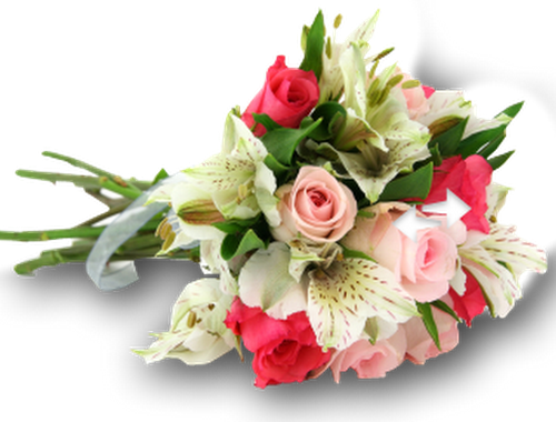 Wedding flowers PNG.
