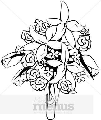Wedding Bouquet Clip Art and Menu Graphics.