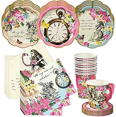 Amazon.com: Talking Tables Alice in Wonderland Tea Party Set.