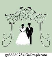 Jewish Wedding Clip Art.