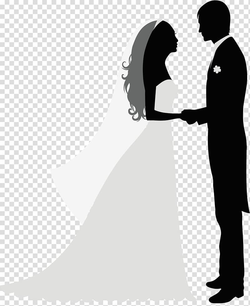 Wedding invitation Bridegroom, Decorated bride and groom.