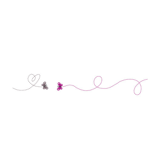 Butterfly clip art graphic suitable for wedding invitations.