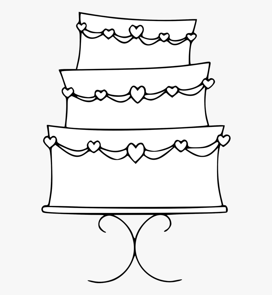 Cake Black And White Wedding Cake Clipart Black And.