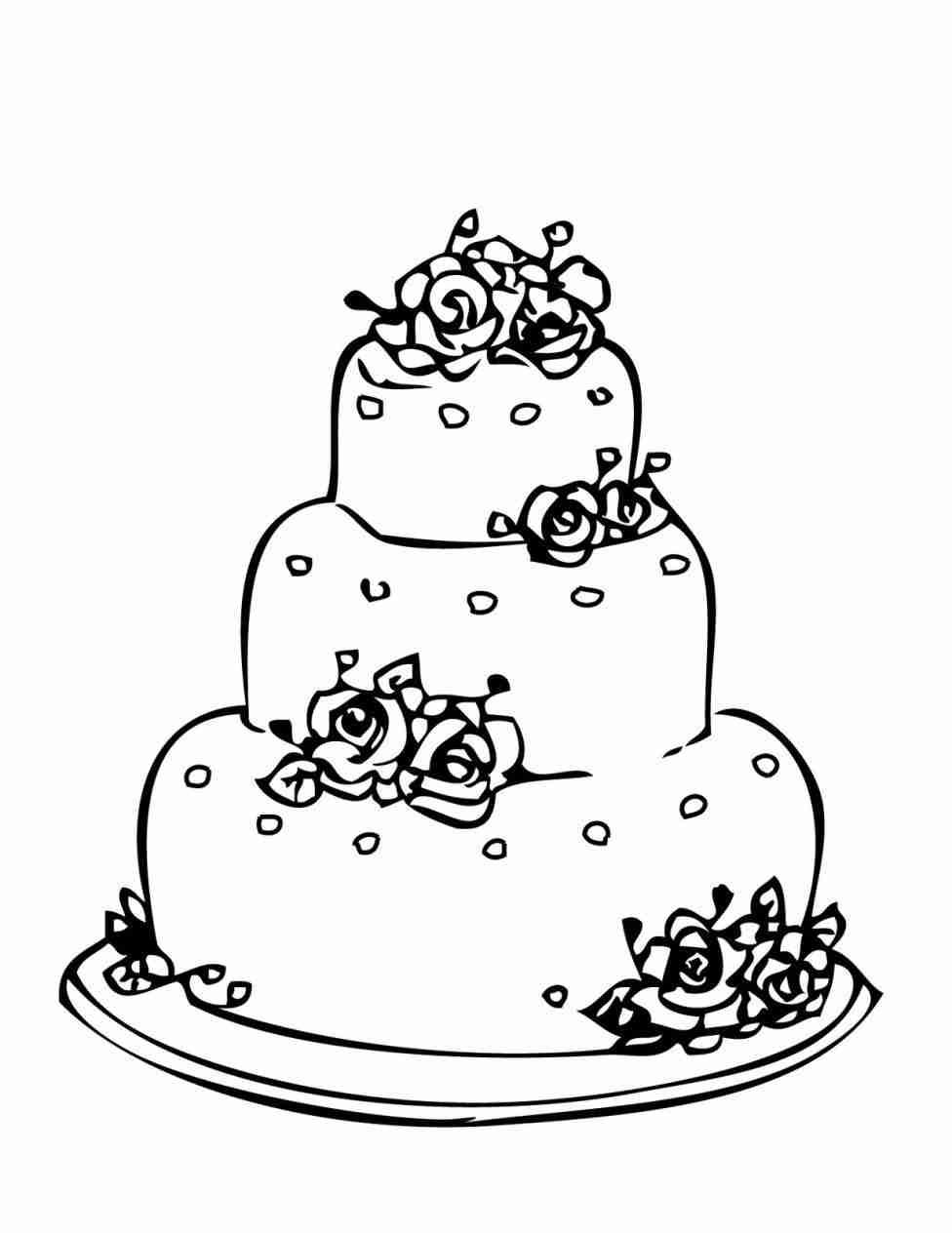 Wedding cake clipart black and white 5 » Clipart Station.