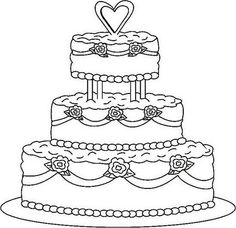 Modern wedding cakes for the holiday: Wedding cake clipart.