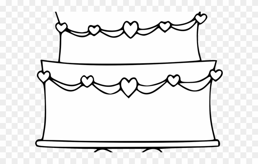 Wedding Cake Clipart Outline.