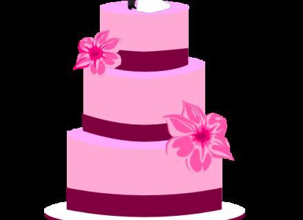 wedding cake pink clip art pink wedding cake clipart 195 299png.