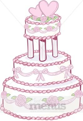 Designer Wedding Cake Clipart.