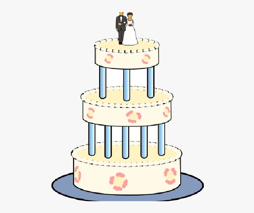 Wedding Cake Clipart Free , Transparent Cartoons.